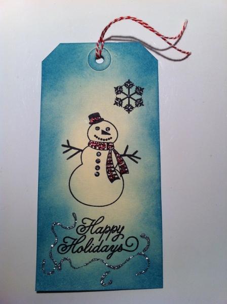 Geschenkanhaenger Weihnachten blau