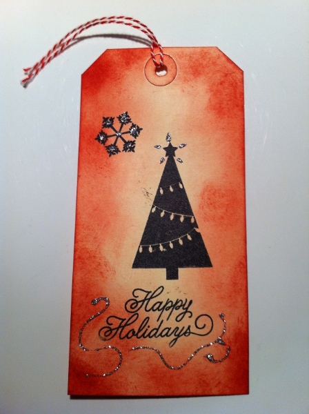 Geschenkanhaenger Weihnachten rot