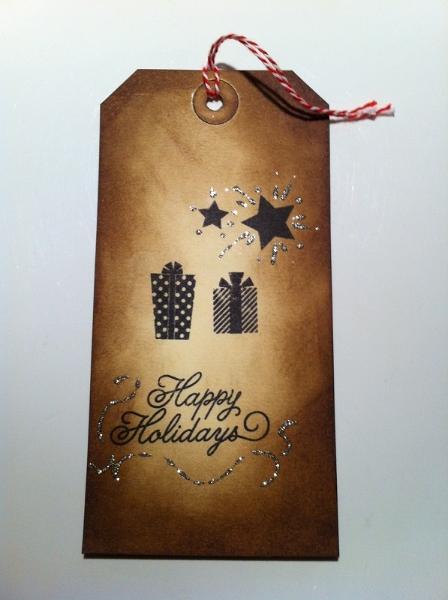 Geschenkanhaenger Weihnachten braun