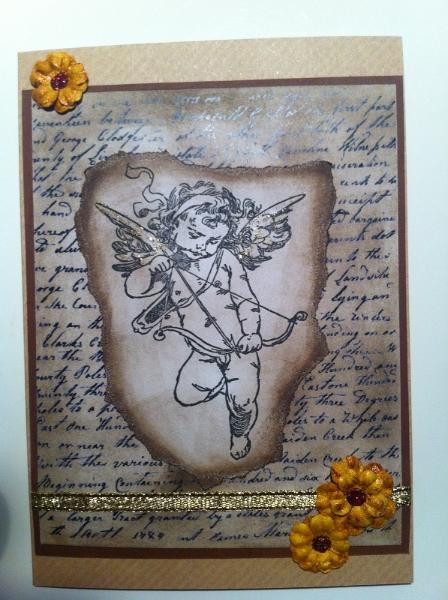 handgemachte Karte Engel