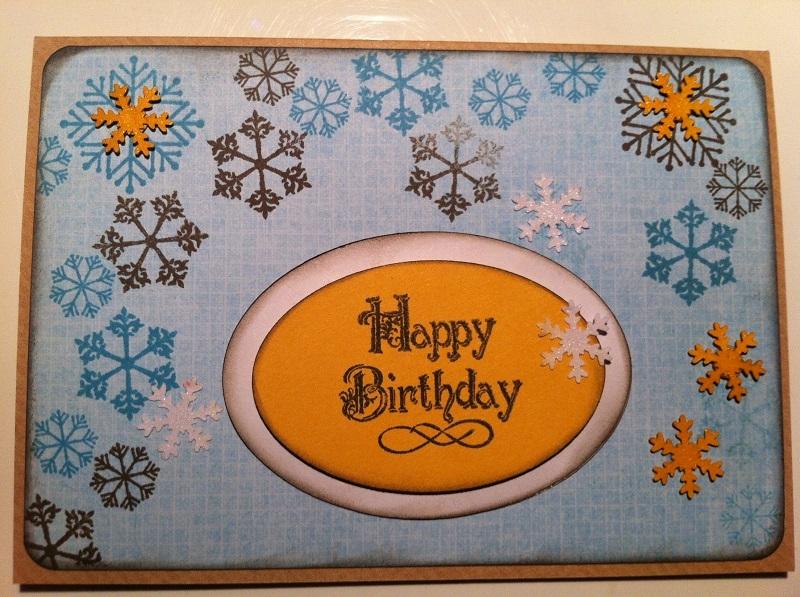 handgemachte Karte Happy Birthday
