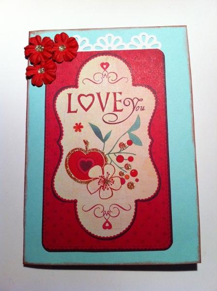 handgemachte Karte I love you