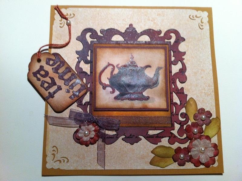 handgemachte Karte Tea Time