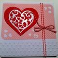 handgemachte Karte Valentinstag