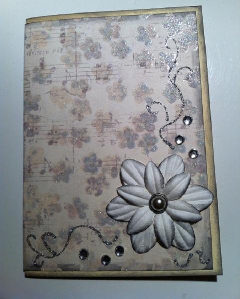 handgemachte Karte zur Hochzeit