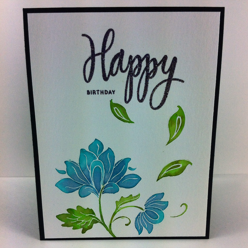 Floral Card Altenew Stamps