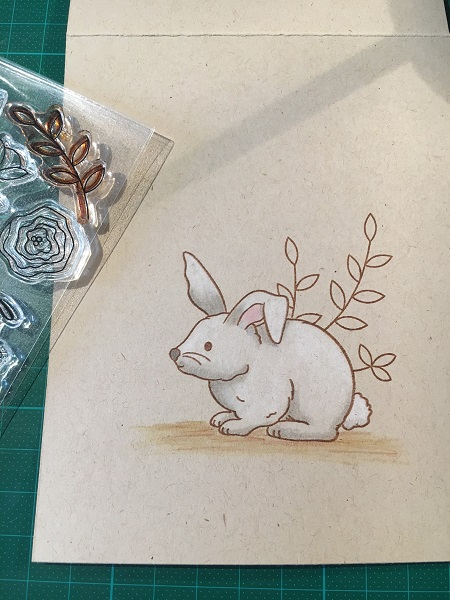white Easter bunny in progress