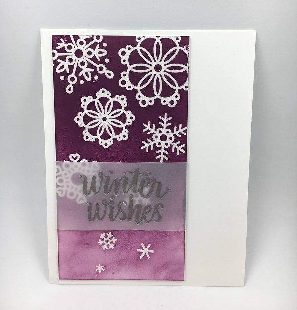Snowflakes purple